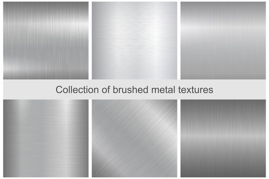 Collection of polished metal textures.