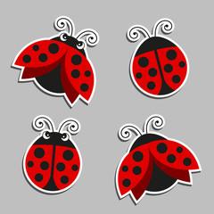 Vector Illustration of Ladybugs