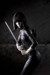 Sexy assassin female model