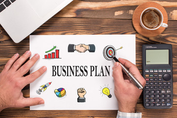 Business Plan Concept On Paper