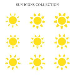 Vector sun icons set.
