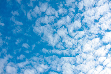 blue sky and fluffy clouds (Cirrocumulus) on nature background texture