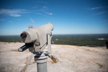 telescope landscape view from stone mountain