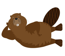Cartoon Character Beaver