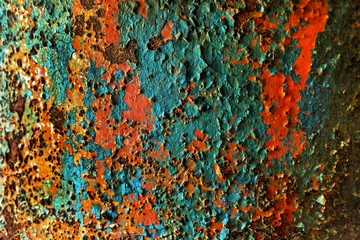 Colorful rusty backround