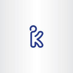 letter k kickboxer vector logo icon