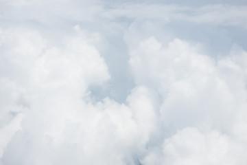 Aluminium Prints Heaven white soft bright cotton clouds background
