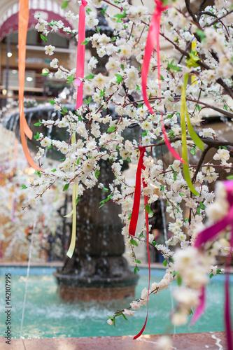 Tree spring blooms white flowers pink stock photo and royalty free tree spring blooms white flowers pink mightylinksfo
