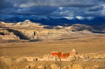 The desert landscapes of Guge kingdom, Western Tibet