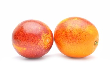Wall Mural - red oranges isolated on white background