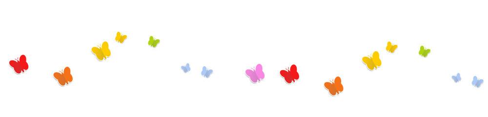 Schmetterlinge Welle Bunt Regenbogen Wellen Band Banner