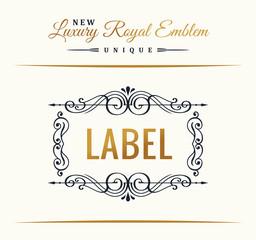 Calligraphic Luxury line symbol. Flourishes elegant emblem monogram. Royal vintage divider design