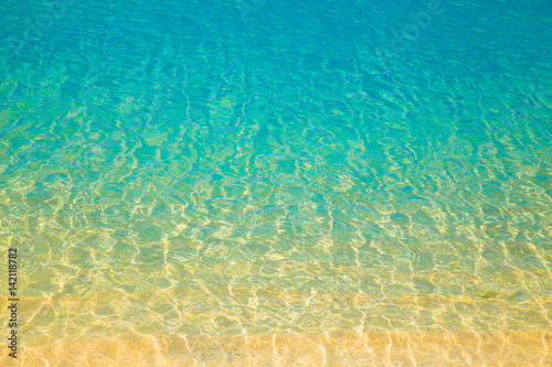 Wall mural Abstract nature background from gradient colors on ocean beach