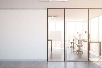 Modern office interior toning