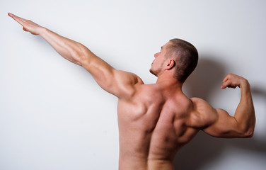 man posing in competitions