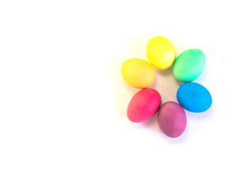 Group of easter eggs isolated on a white background