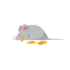 Mouse Eating Cereal Grains