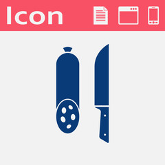 icon of salami with knife