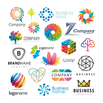 Abstract vector elements for logo design