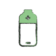 Green energy battery icon vector illustration graphic design