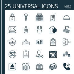 Set Of 25 Universal Editable Icons. Can Be Used For Web, Mobile And App Design. Includes Elements Such As Money, Keyword Optimisation, E-Trade And More.