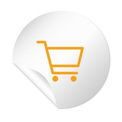 Runder Sticker - Warenkorb - Einkaufen