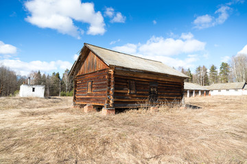 Old Abandoned Barn Log structure wood building