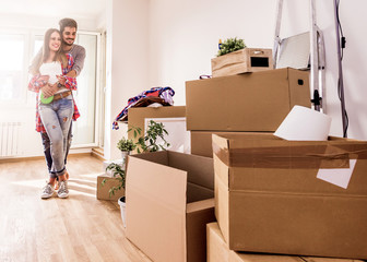 Young Couple Moving to New Home