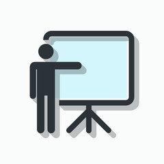 Training, presentation and education icon. Vector Illustration.