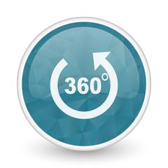 Panorama brillant crystal design round blue web icon.