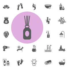 aroma stick icon. spa set vector illustration