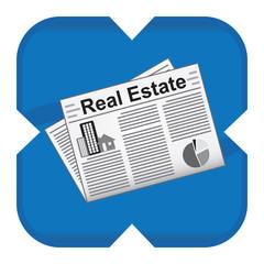 real estate newspaper icon
