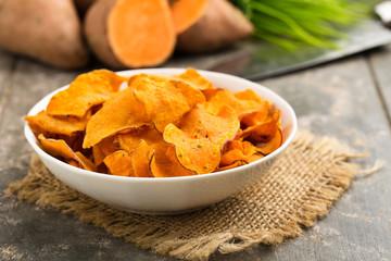 Süßkartoffelchips - sweet potato crisps
