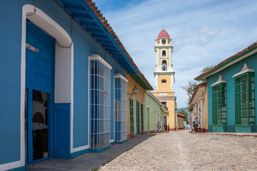 Colorful architecture in Trinidad -UNESCO World Heritage Site.