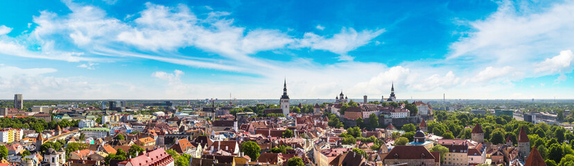 Wall Mural - Aerial View of Tallinn  and Toompea Hill