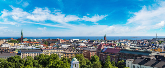 Wall Mural - Panoramic view of Helsinki