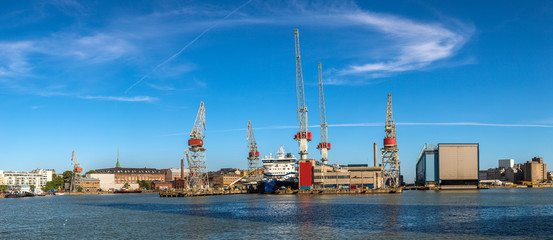 Cargo port in Helsinki