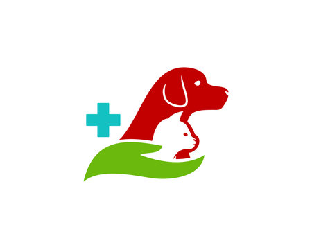 Animal Care Icon Logo Design Element