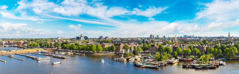 Photo sur Aluminium Amsterdam Panoramic view of Amsterdam