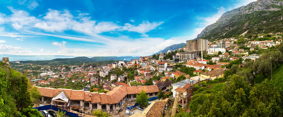 Wall Mural - View from Kruja castle, Albania