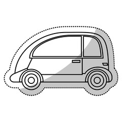 automobile vehicle transport cut line vector illustration eps 10