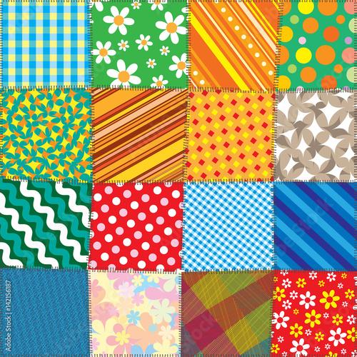 colorful quilt patchwork vector pattern stockfotos und lizenzfreie vektoren auf. Black Bedroom Furniture Sets. Home Design Ideas