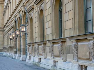 Munich Residenz building wall corridor
