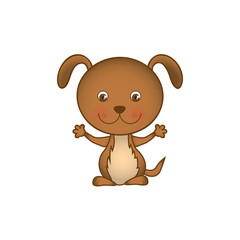 colorful picture cute dog animal vector illustration