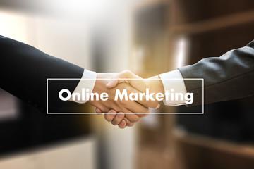 ONLINE ADVERTISING man working on laptop , Online Website Marketing , Update Trends  Advertising , Online Business Content Strategy