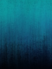black and blue textured background with abstract paint design in gradient smeared colors