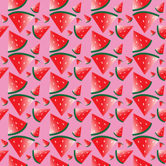 watermelons pattern vector for your idea design