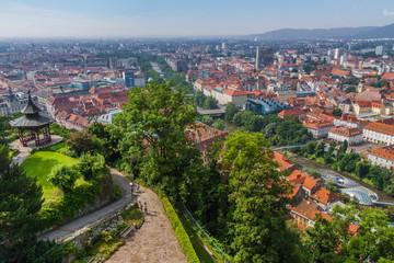 View to city Graz, Austria