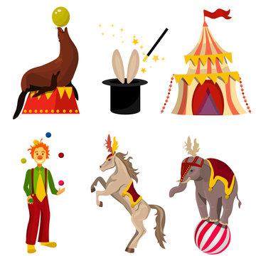 vector circus set