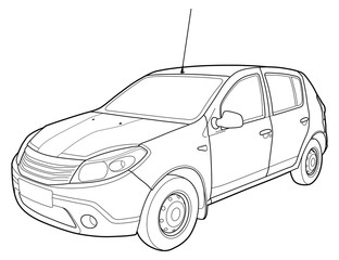 automobile photos royalty free images graphics vectors videos Saturn Ion Turbo modern car technical draw